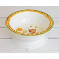 Baby Cie Sweet as Honey Round Textured Suction Bowl for Baby or Toddler