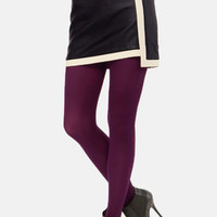 Tabbisocks Opaque a Wish Merlot Tights