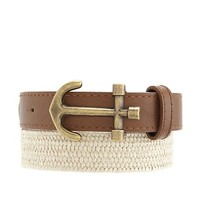 Anchor Buckle Stretch Belt