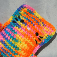 Amigurumi Kitty Crochet Cat Rainbow Bright Kawaii Kitteh