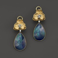 Michael Aram 18K Gold and Lapis Orchid Drop Earring | Bloomingdales's