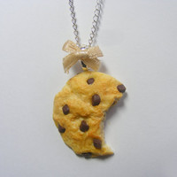 Scented Choc Chip Cookie Miniature Food Necklace Pendant - Miniature Food Jewelry