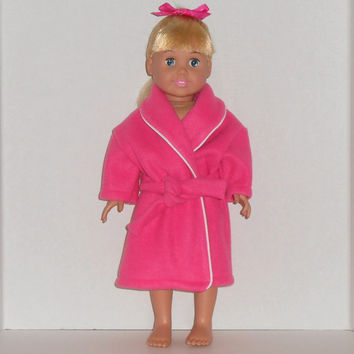 American Girl 18 inch Doll Clothes Hot Pink Fleece Robe