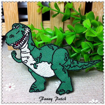 Disney Toy Story Rex the Green Dinosaur Iron on Patch 39-H