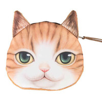 Tan Small Nose American Shorthair Cat Coin Purse