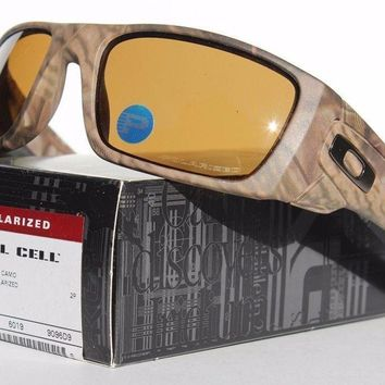 One-nice™ Oakley Fuel Cell POLARIZED Sunglasses OO9096-D9 Woodland Camo Bronze Lenses