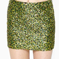 Sun Spot Sequin Skirt
