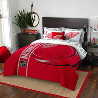 Detroit Red Wings NHL Full Comforter Bed in a Bag (Soft & Cozy) (76in x 86in)