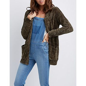 Chenille Open-Front Cardigan | Charlotte Russe