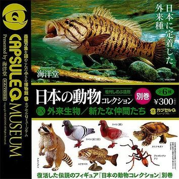 Capsule Q Museum Japanese Animal Collection 7 Pics Set Kaiyodo Gachapon