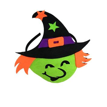1PC Witch Halloween Funny Pumpkin Ghost Headband Headdress Halloween Costume Headdress for Mardi Gras Halloween Party Supplies