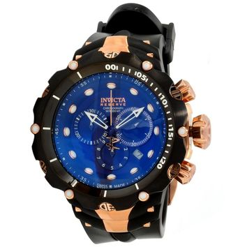 Invicta 1525 Men's Venom Generation II Reserve Blue Dial Black Rubber Strap Chronograph Dive Watch
