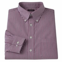 Croft & Barrow Classic-Fit Patterned Easy-Care Button-Down-Collar Dress Shirt - Men, Size: