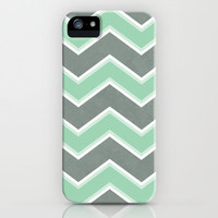 Gray Mint Chevron iPhone Case by Dale Keys | Society6