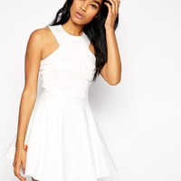 AX Paris | AX Paris Cut in Neck Full Skater Dress at ASOS