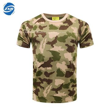 Men Women Outdoor Sport Military Camouflage T Shirt Hot Fishing And Hunting Uniform Quick Dry Tactical Clothing Climbing Shirts