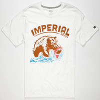 Imperial Motion Grizzly Mens T-Shirt White  In Sizes