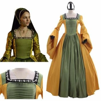The Other Boleyn Girl Mary Boleyn Cosplay Costume Dress Custom Made Renaissance