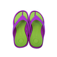 Girl's Traction Shower Sandals - Lime Items For College Girls Bathroom Flip Flops For Showering