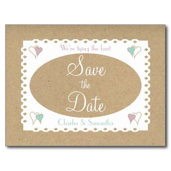 Save the Date | Rustic vintage tones Postcard
