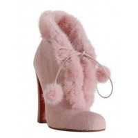 Christian Louboutin Designer Boots At Bluefly Pink