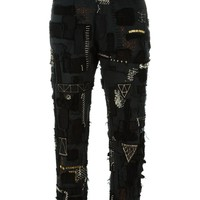 Heikki Salonen Skinny Fully Patched 5 Pocket Jean - Hostem - Farfetch.com