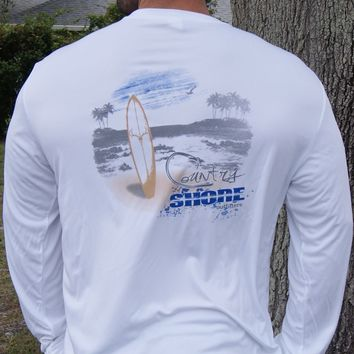 Country Shore Beach White UPF Long Sleeve Shirt