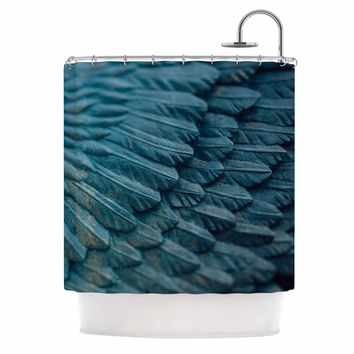 "Ann Barnes ""Ombre Angel"" Blue Celestial Shower Curtain"