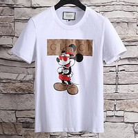 Gucci Woman Men Fashion Casual Letter Shirt Top Tee