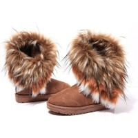 New Hot Women Autumn Winter Snow Boots Ankle Boots Warm Faux Fur Shoes 3 Colors (blue, 36)