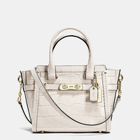 Coach Swagger 21 Carryall in Croc Embossed Leather