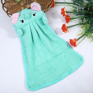 Hand Tower Cartoon Elephant Hand Dry Towel Clearing Lovely Animal Face Towel For Kitchen Bathroom Office Car Use