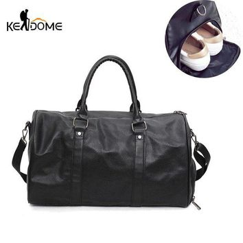 DCCK7N3 Pu Leather Sports Bag for Women Fitness Bags for Shoes Handbags for Men Over the Shoulder Outdoor Travel Luggage Bolsa XA366WD