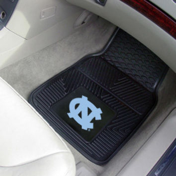 "UNC North Carolina - Chapel Hill Heavy Duty 2-Piece Vinyl Car Mats 18""x27"""