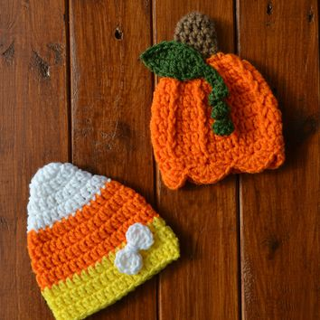 Twin Baby Girl Halloween Hats Newborn Halloween Photo Prop
