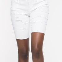ALMOST FAMOUS DISTRESSED BERMUDA SHORTS