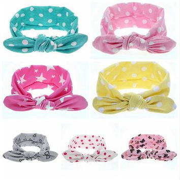 1 PC Fashion Headwear Kids Dot Knot Headband Newborn Hair Accessories Children Elastic Hair Bands   172