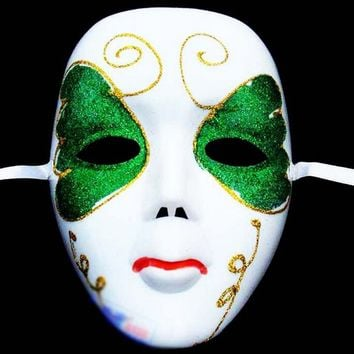 DIY Scary White Face Mask Halloween Masquerade Ball Party Costume Masks Halloween Festival Mask For Women Random Style