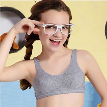 Training bra kids girls Soft Touch Cotton underwear sports kids vest bra for teens child student teenage bras With Two Hooks