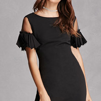 Sheer Sleeve Sheath Dress