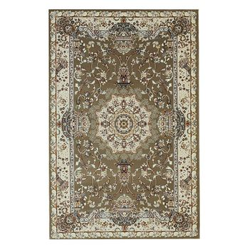 Brown Traditional Tabriz Medallion Rug
