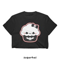 Kawaii Cupcake  Shirts | Pastel Goth Clothing | Cupcakes | Grunge Crop Tops for Women