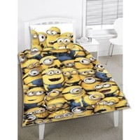 Despicable Me 2 'Minions' Reversible Single Duvet Cover Panel With Pillowcase