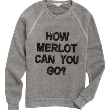 Bow & Drape How Merlot Can You Go Sweatshirt | Nordstrom