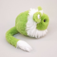Reserved for Cheryl Stuffed Animal Stuffed Green Lion Cute Plush Toy  Kawaii Plushie  Snuggly Cuddly Faux Fur Toy Large 6x10 Inches