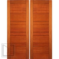 Exterior Flush Double Door, Mahogany, Contemporary Design