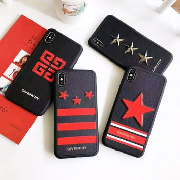 Givenchy hot seller of fashion floating five-pointed star couples iPhone case