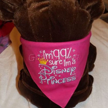 Disney Princess Embroidered Tie On Dog Bandana