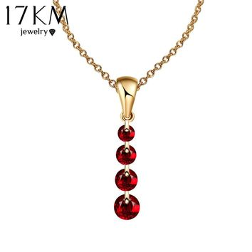 8 Colors Crystal Long Water Drop Necklaces & Pendant Crystal Necklace Maxi collares collier Statement Necklace colar Women Gift