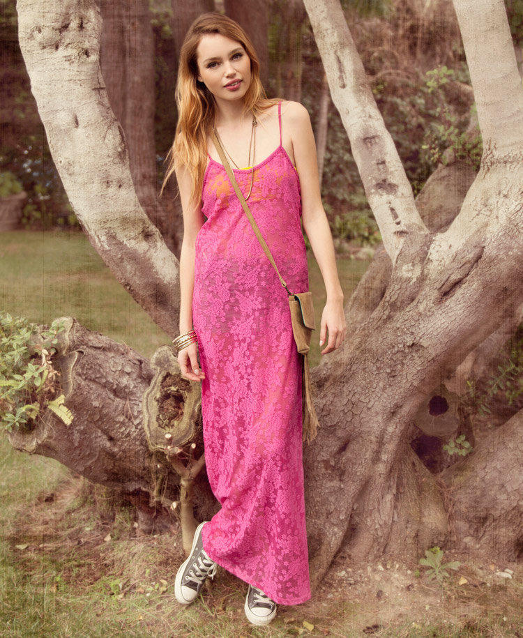 Lace Maxi Slip Dress